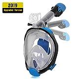 Unigear Maschera da Snorkeling, Maschera Subacquea con Apertura a 180 ° Ampia visibilità Anti-Perdita Anti-Appannamento per Donna e Uomo (S/M, Nero-Blu)