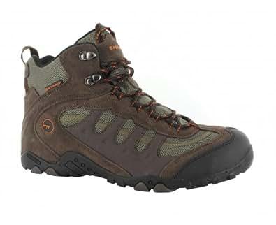 Hi-Tec Penrith Mid Waterproof, Herren Trekking- & Wanderschuhe, Braun (Chocolate/Taupe/Orange 041), 41 EU