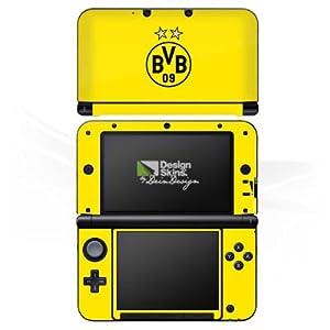DeinDesign Skin kompatibel mit Nintendo 3 DS XL Aufkleber Sticker Folie BVB Borussia Dortmund Sterne