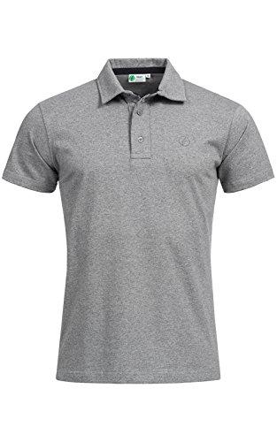 Banqert Herren Polo, Faire Löhne, Made in Mauritius Poloshirt-s Polohemd-en Funktionsshirt Männer Shirt-s Kurzarm einfarbig-e Hemd-en Grau Melange XL