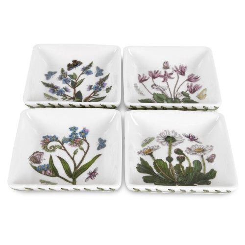 Portmeirion Botanic Garden Mini-Teller, quadratisch, 7,6 cm, 4 Stück Flower Garden Teller