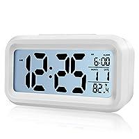 Diwu K373.016 Optik Masaüstü Saat Takvim Termometre, Beyaz