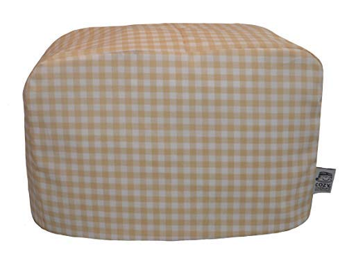 cozycoverup® Staub Cover für Toaster in Beige Gingham (Dualit New Gen Classic 4Slice) (Toaster 4 Slice Dualit)