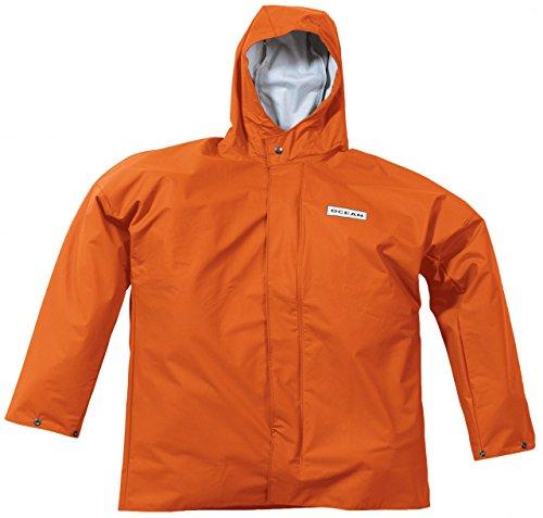 Ocean Rainwear Damen Herren Regenjacke Comfort Heavy Segeljacke, Farbe:orange, Größe:L