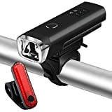 Coukou LED Bike Lights Set, Rechargeable Front Light Taillight Combinations LED Bicycle Light