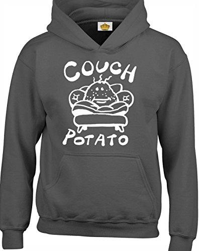 Crown Designs Couch Potato Lustig Geschenk Unisex Pullover Für Männer, Frauen Und Jugendliche (Holzkohle/X-Large)