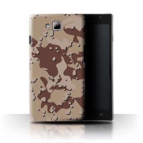Stuff4® Hülle/Case für LG Optimus L9 II/D605 / Wüste/Schokoladenstückchen Muster/Militär Camouflage Tarnung Kollektion (Camo Lg Optimus L9 Case)