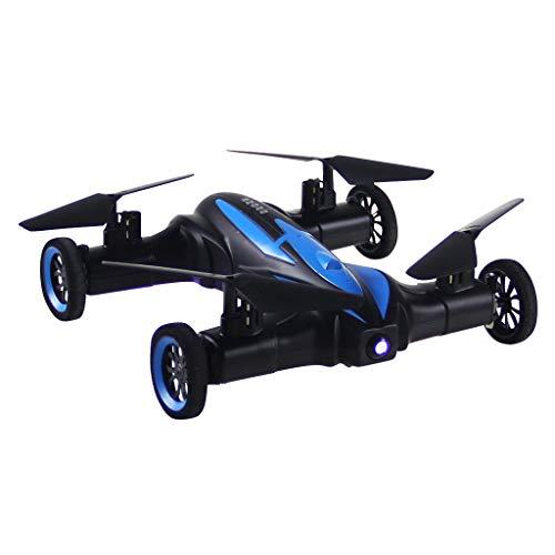 Land und Luft Vier Achsen Flugzeuge Eingebaut Sechs Gyroskop Drohne Fernbedienung Beschleunigen X21 RC Quadrocopter Luft-Boden Fliegend Auto 2,4G 4CH 6-Achsen Gyro Spielzeug LED (Fernbedienung Flugzeug-motoren)