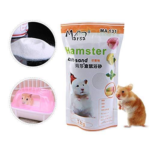 LAYOPO Hamster Badesand für kleine Haustiere, 1 kg Badesand für Hamster, Rennmäuse, Chinchilla -