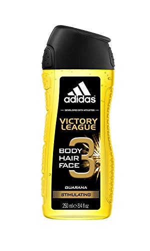 adidas 2 in 1 Victory League Shower Gel 250 ml, 3er Pack (3 x 250 ml) -