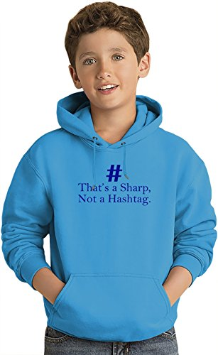 That's A Sharp Not A Hashtag Slogan Lightweight Hoodie For Kids | 80% Cotton-20%Polyester| DTG Printing| Unique & Custom Jumpers, Sweatshirts, Sweaters & Kids Clothing By Wicked Wicked