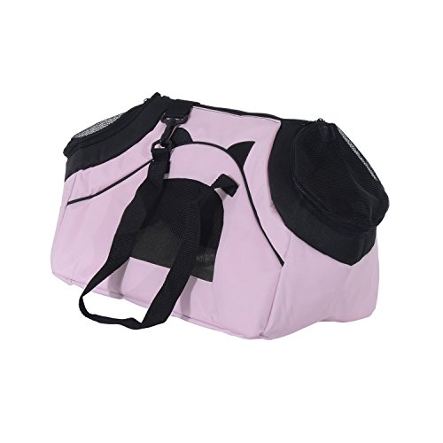 Transportin 45 x 25 x 28cm Bolsa Transporte Plegable Perros y Gatos Ro
