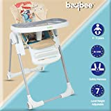 Baybee LittleHug Baby High Chairs for Feeding Portable High Chair for Baby/Kids-Toddler Booster Seat with Cushion and Safety Belt for Baby (Beige)