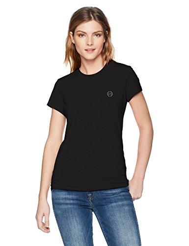 Armani Exchange Women's 8nyt74 T-Shirt, Black (Black 1200), One Size (Manufacturer Size: Small)