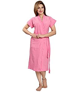 Superior Cotton Pink Bathrobe for Adult