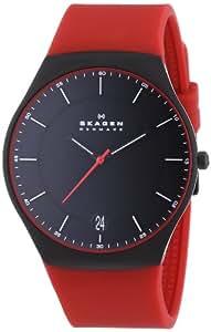Skagen - SKW6073 - Montre Homme - Quartz Analogique - Bracelet Silicone Rouge