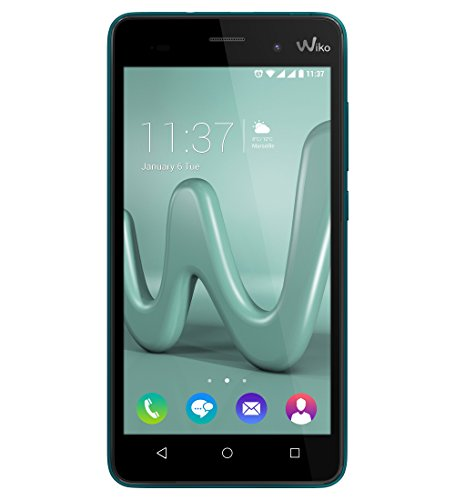 Wiko Lenny 3 Smartphone (12,7 cm (5 Zoll) IPS HD-Display, 16GB interner Speicher, Android 6 Marshmallow) Türkis