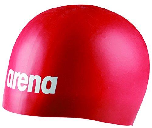 Arena Moulded Pro Berretto di Bagno Mista, unisex, Moulded Pro, rosso, Taglia unica