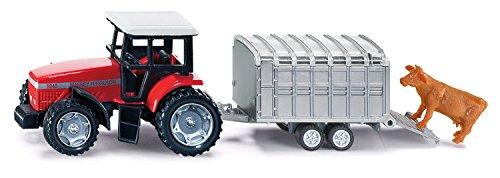 Siku - 1640 - Véhicule sans piles  -  Tracteur avec remorque bétail - 1,64 ème 4006874016402