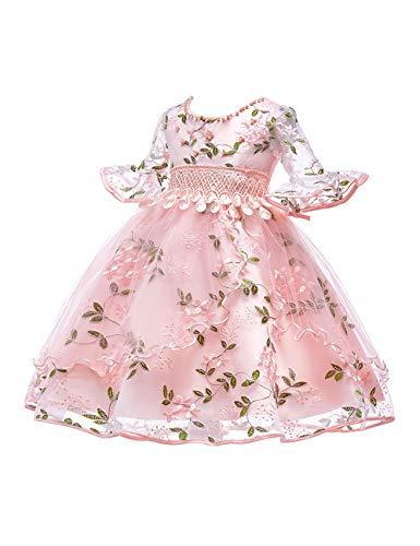 Zhhlinyuan Halloween Aufflackern-Hülse Hochzeit Kostüm Blase Ankleiden Prinzessin Kleider für Mädchen Alter 3-8