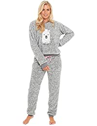 35cf820045 Slumber Hut® Ladies Pug Dog Llama Fleece Pyjamas - Luxury Womens Animal Novelty  Loungewear Twosie