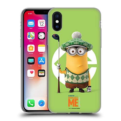 Head Case Designs Offizielle Despicable Me Kevin Golfer Kostuem Minions Soft Gel Huelle kompatibel mit iPhone X/iPhone XS