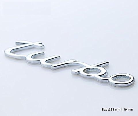 E468 Turbo Power auto 3D emblème car Sticker Badge arrière Autocollant de voiture insigne