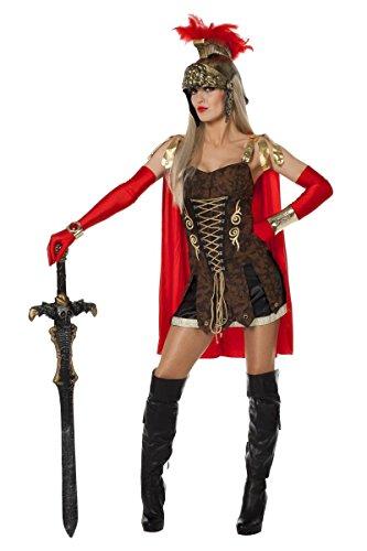 Karneval Kostüm Römerin - Damen Kostüm Legionärin Römerin Karneval Fasching