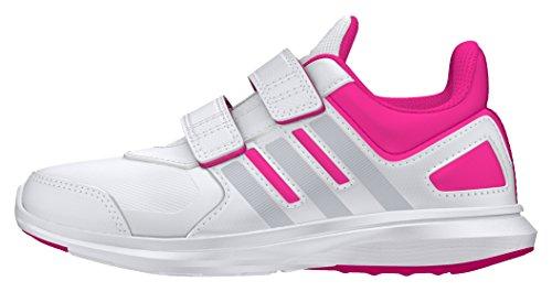 adidas Unisex-Kinder Hyperfast 2.0 Cf K Laufschuhe, Weiß Blanco (Ftwbla / Plamet / Rosimp)