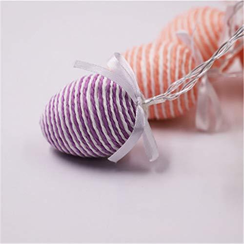 Osterei Licht Seil Ei Seil Für Batterie Licht Ostern Dekoration Farbe 4.5Meters30Lamps (Batterie)