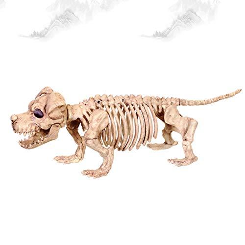 CKH Simulation Hund Knochen Modell Tier Skelett Skeleton Rack Halloween Terror Dekorationen Geist Haus Bar Display (Hund Skelett Halloween Dekoration)