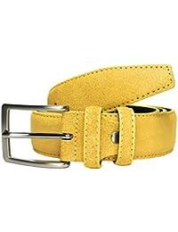 a2928f1006 MYB Cintura uomo in vera pelle scamosciata - altezza 35 mm - Made in Italy -