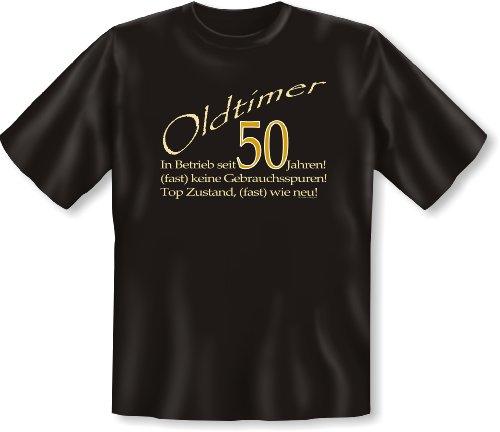 Zum 50. Geburtstag! Oldtimer in Betrieb seit 50 Jahren… V-Neck T Shirt! Geburtstagsgeschenk! Gr: Farbe: schwarz Schwarz