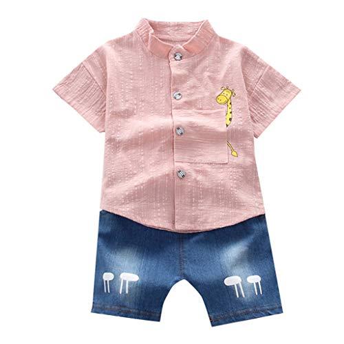 Bambina 18 mesi vestiti bambino maschio 1 2 3 anni vestiti bambina neonato vestiti bambina pantaloni pantaloncini a maniche corte per bambini stampa animale t-shirt giacca jeans pantaloncini set