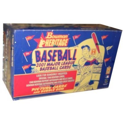 2001 Bowman Heritage Baseball Card Unopened Hobby Box by Bowman