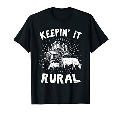 Bauern Shirt I Lustiger Traktor Kuh Landwirt Geschenk ()