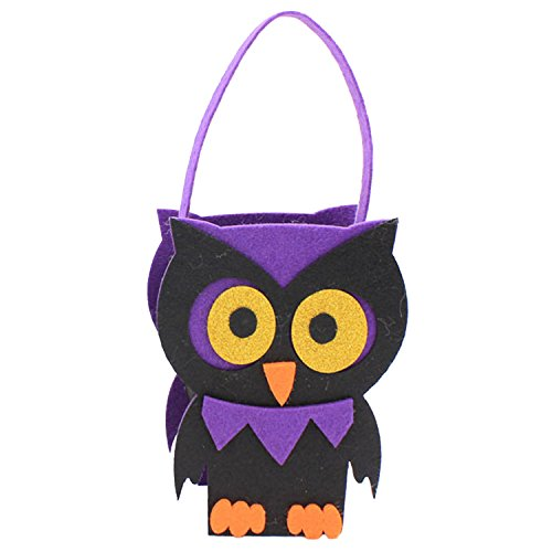 Lustige Halloween-Party-Süßes sonst gibt's Saures Goody Süßigkeits-Geschenk-Tote-Handtasche Stereo-Platz für Raum mit Griff-Eulen-Art