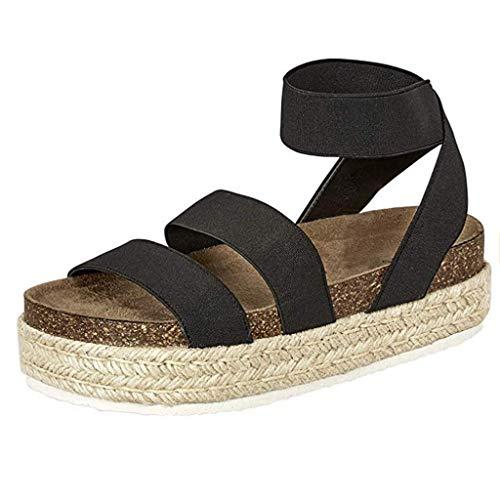 Frauen Sommer Sandalen Wedges Leopard Casual Schuhe Strap Gladiator Roman Sandalen Schnalle Keile Leopard Retro Peep Toe Sandalen (Kleinkinder Für Gladiator Sandalen)