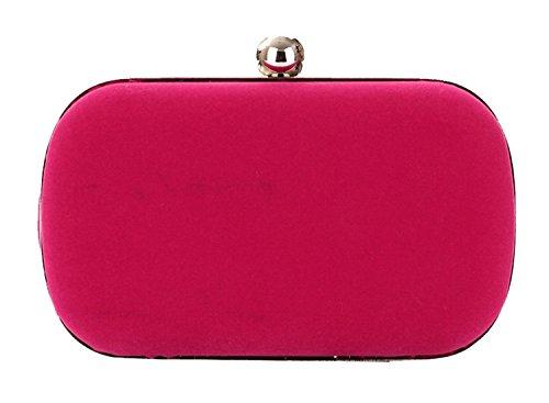 Tina Women's Fashion Evening Cocktail Wedding Party Handbag Clutch Purse Hot Pink Hot Pink