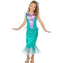 Disfraz sirenita deluxe para niña - Único, 11 a 13 años