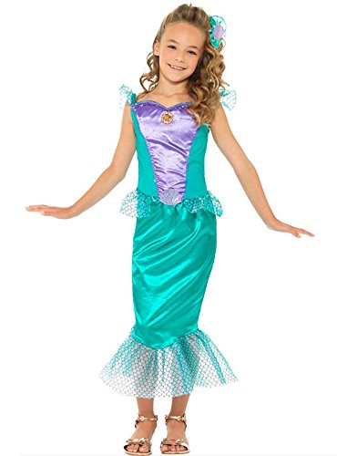 Imagen de disfraz sirenita deluxe para niña  único, 7 a 9 años