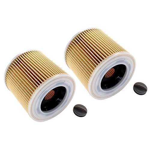 AISEN 2x Patronen-Filter für Kärcher 4000 Plus, 4000 TE, A 2111, A 2131 pt, A 2201
