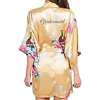 Kunfang Nueva Dama de Honor del Banquete de Boda Mujeres Ropa de Dormir de Impresión Floral