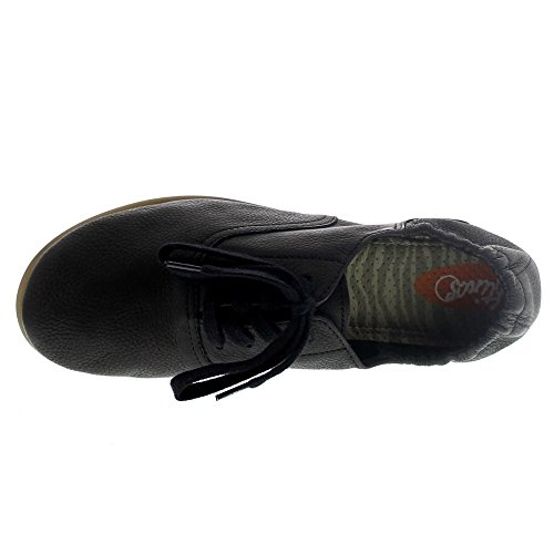 Softinos Damen Val363sof Smooth Geschlossene Ballerinas Schwarz (Black)