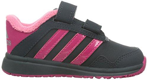 adidas Snice 4, Baskets premiers pas mixte bébé Gris - Grau (Dark Grey / Bold Pink / Super Pink F15)