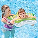 Inflatable Star Shape Swim Tube Ring - Blow Up Floating Tube Raft Tube for Swimming Pool Beach for Age 3 to 6 (Green)