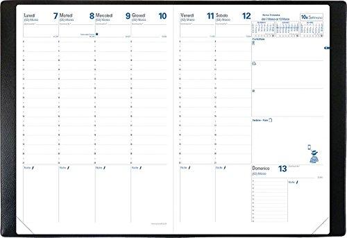 Quo Vadis 024006Q Ricambio Agenda Settimanale Formato A4, 21 x 29.7 cm, Ricambio