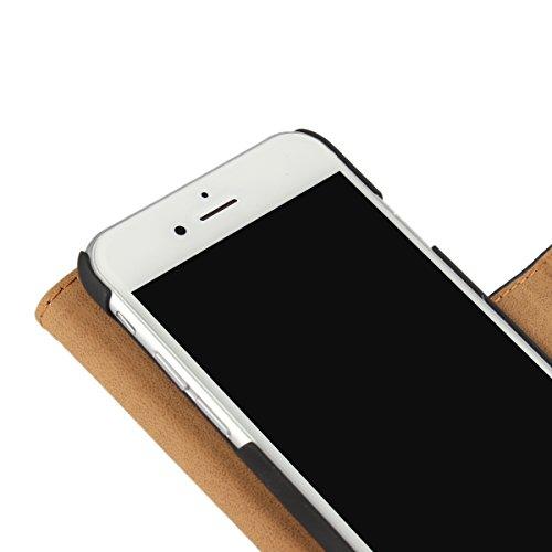 Meimeiwu Alta Qualità Slim Flip Cover Leather Wallet Cover Case Custodia Per iPhone 7 - Pink Bianco
