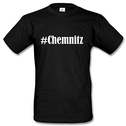 ... Farben Schwarz und Weiss Schwarz. T-Shirt #Chemnitz Hashtag Raute für Damen  Herren und Kinder ... in