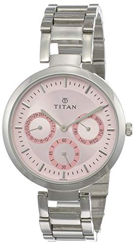 2. Titan NK2480SM05 Pink Dial Women's Watch -